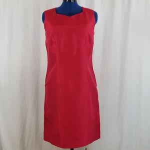 Womens Red Sleeveless Dress with lining